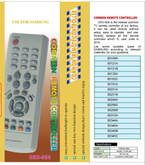 High Quality Universal Remote Control (URC-4)